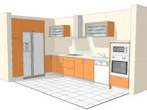Modern konyhabútor vakuumfóliás ajtófronttal